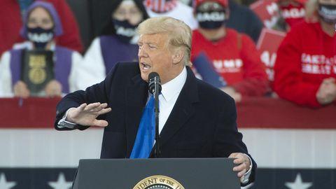 US-Präsident Donald Trump bei seinem Wahlkampfauftritt inCircleville, Ohio am gestrigen Samstag