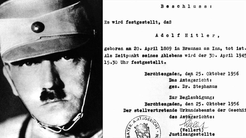 25. Oktober 1956: Adolf Hitler ist tot - nun auch offiziell
