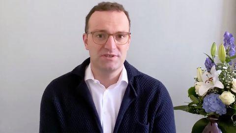 Jens Spahn meldet sich mit Videobotschaft aus Quarantäne