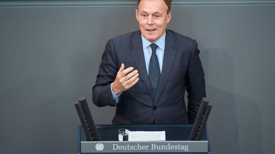 Thomas Oppermann (SPD), Bundestagsabgeordneter, spricht 2018 im Bundestag