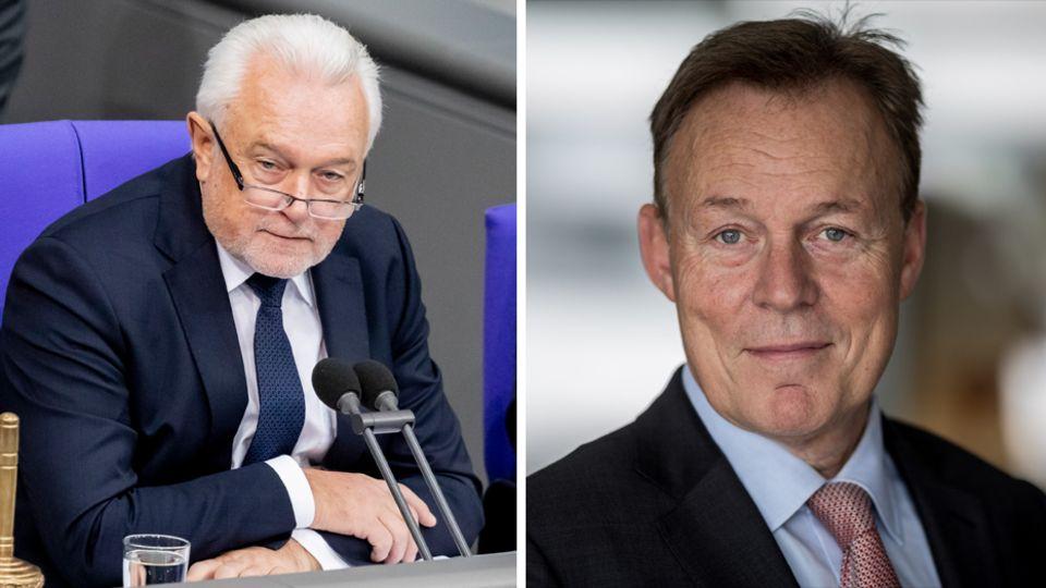 Bundestagsvizepräsident Wolfgang Kubicki (l., FDP) und der verstorbene SPD-Politiker Thomas Oppermann