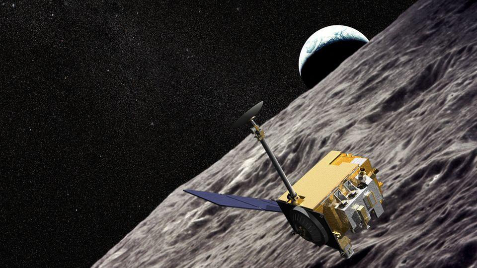 Lunar Reconnaissance Orbiter über dem Mond