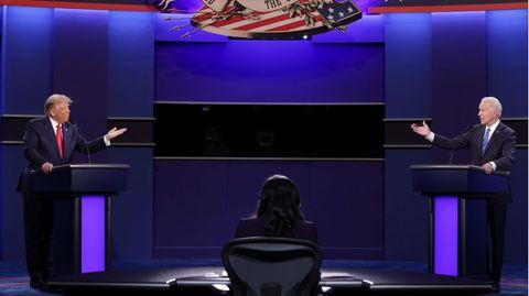 Die zweite TV-Debatte zwischen US-Präsident Donald Trump (l.) und Herausforderer Joe Biden