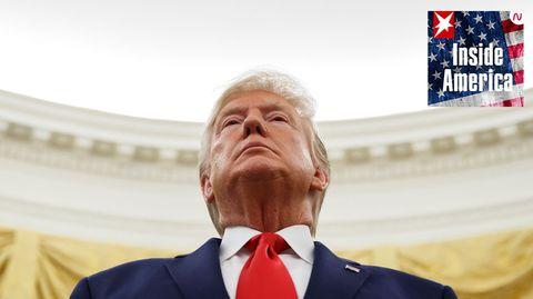 Donald Trump, Präsident der USA, im Oval Office des Weißen Hauses