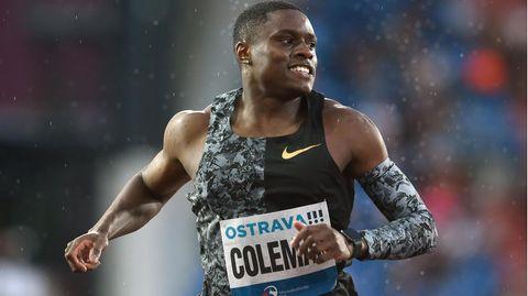 Der Favorit auf den Olympia-Sieg im Hundert-Meter-Sprint im nächsten Jahrist vorerst gesperrt: Christian Coleman