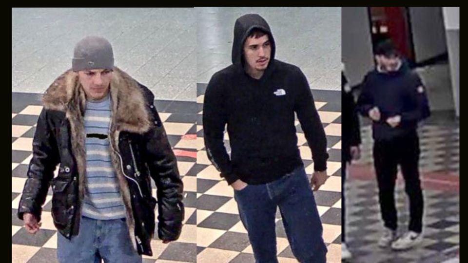 Mit diesen Bildern aus einer Überwachungskamera sucht die Polizei nach den mutmaßlichen Tätern