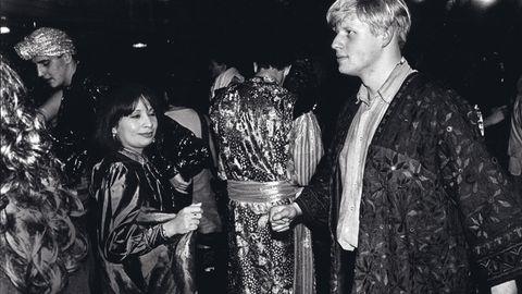 """Der junge Boris Johnson, schon damals unverkennbar, beim """"Sultans Ball"""" 1986 im Rathaus von Oxford"""