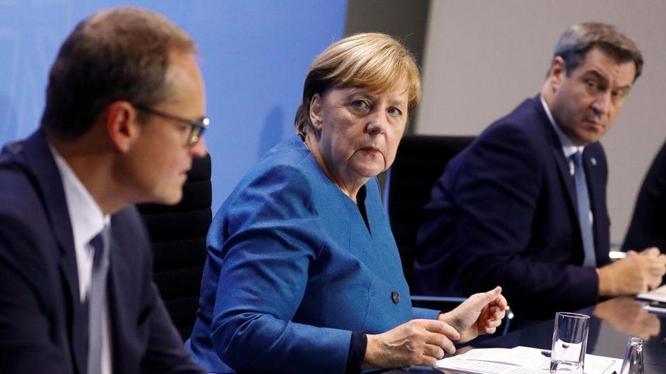 Müller, Merkel, Söder Corona-Beschlüsse