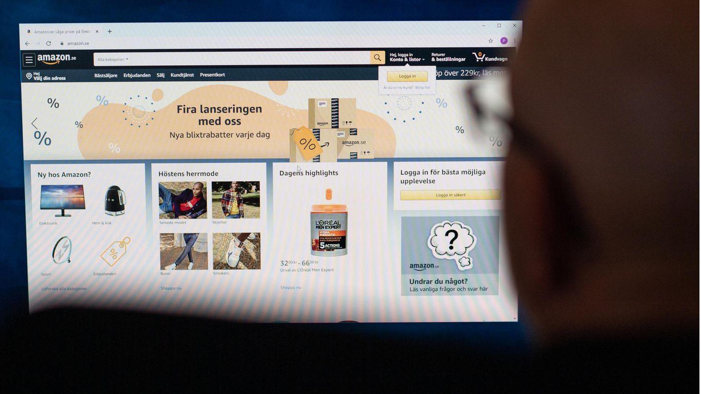 Schwedisch-sprachige Amazon-Website zum Launch