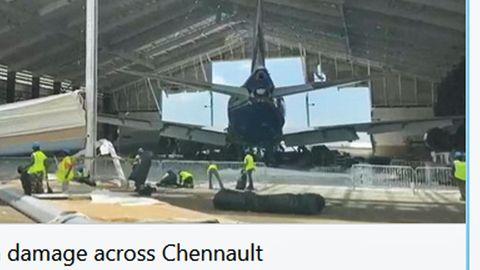 Die Boeing 747Sp im betroffenen Hangar