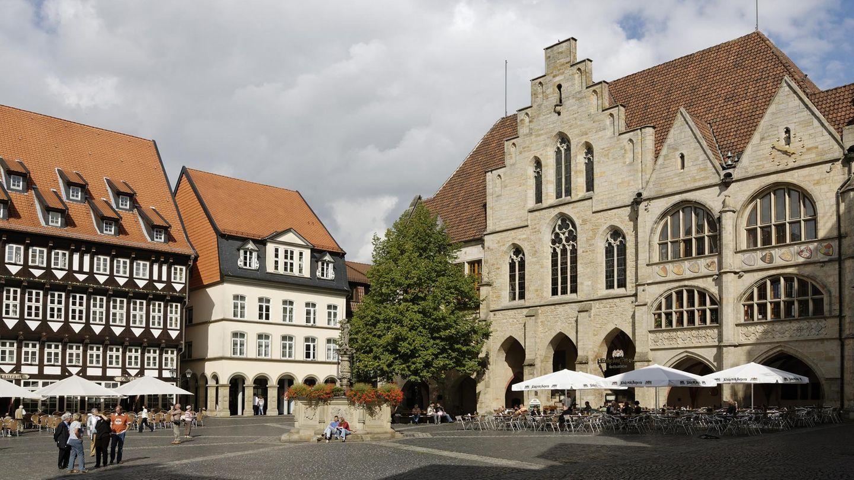 Rathaus und Marktplatz in Hildesheim