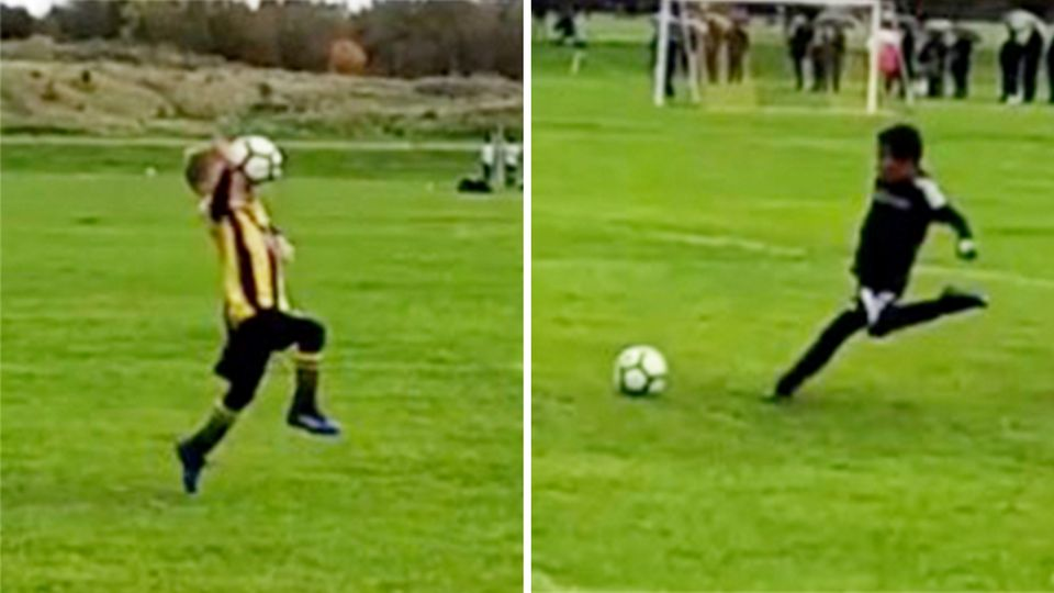 Torwart bolzt Stürmer den Ball ins Gesicht – Sekunden später flippt der ganze Sportplatz aus
