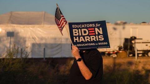 Biden- und Harris-Unterstützer bei Rally in Phoenix im US-Bundesstaat Arizona