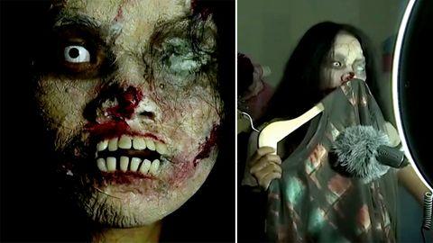 Thailänderin verkauft Kleidung von Toten online.