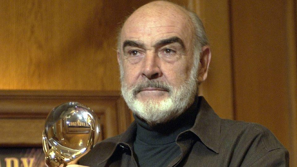Sean Connery bei einer Preisverleihung in Prag