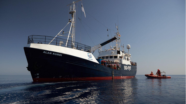 """Der Post legt nahe, der Attentäter sei von der """"Alan Kurdi"""" nach Lampedusa gebracht worden."""