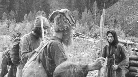 So lebten die Lykovs zur Zeit ihrer Entdeckung Ende der 1970er.