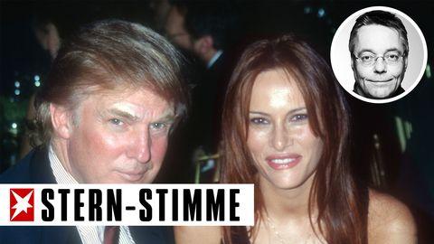 Als die heutige First Lady noch Melania Knauss hieß, hat stern-Kolumnist Michael Streck Donald Trump und siemal im Trump Tower getroffen (Archivbild von 1999)