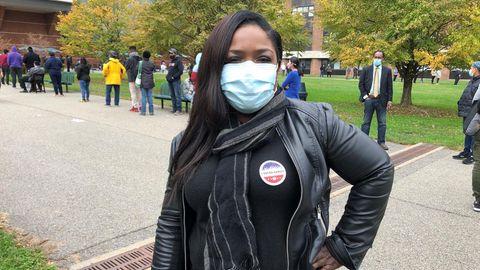 Angst geht um unter den Demokraten: Krankenschwester Gloria Thomas hat gewählt