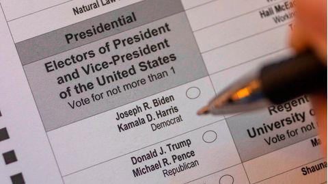 Briefwahlzettel zur US-Präsidentschaftswahl