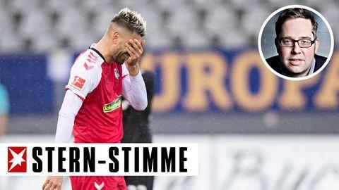 Da mag man gar nicht mehr hinschauen.Freiburgs Vincenzo Grifo im Spiel gegen Leverkusen