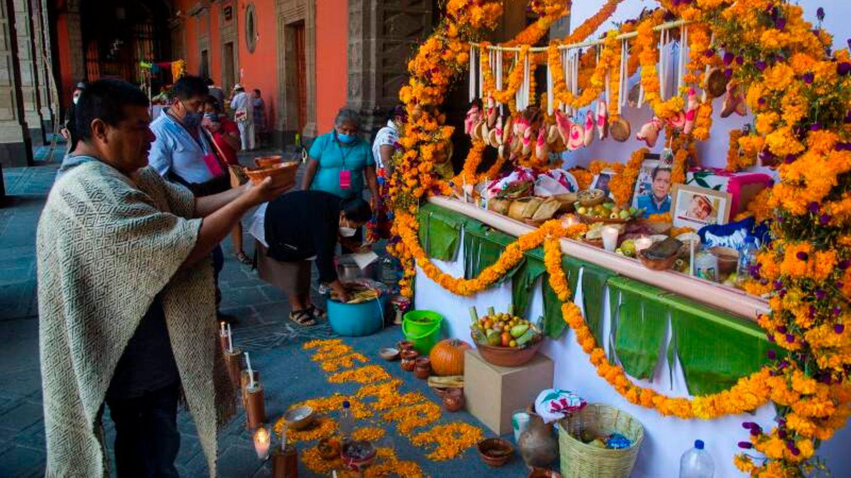 """Die Mexikaner gedenken am """"Día de Muertos"""" ihren verstorbenen Angehörigen."""
