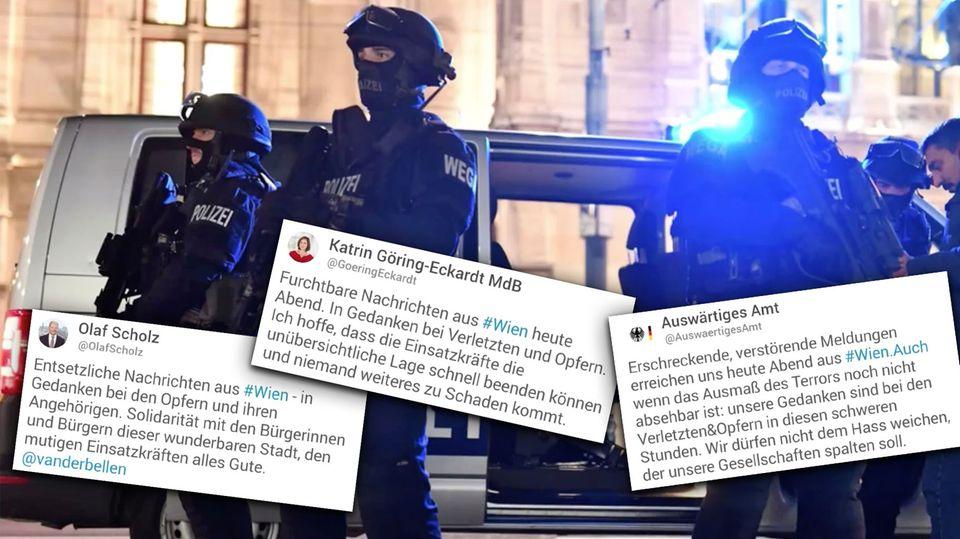 Politiker reagieren geschockt auf den Terror in Wien