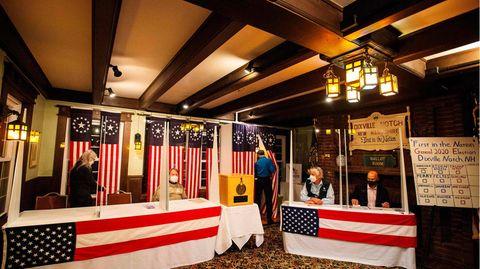 Das Wahllokal in Dixville Notch