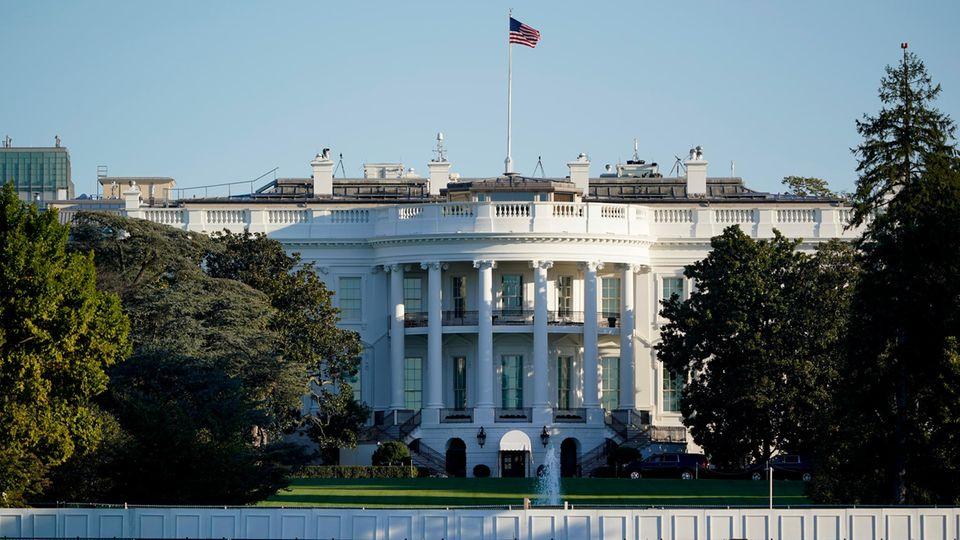 Das Weiße Haus in Washington, Wohnsitz des US-Präsidenten
