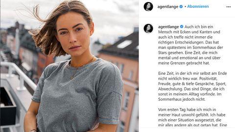 """Jennifer Lange äußertsich auf Instagram zum """"Sommerhaus der Stars"""""""