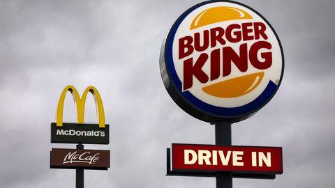 Die Fastfood-Ketten Burger King und McDonald's
