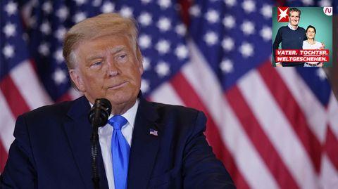 """Podcast """"Vater. Tochter. Weltgeschehen."""": Die Sorgen einer Familie vor einem erneuten Trump-Sieg"""