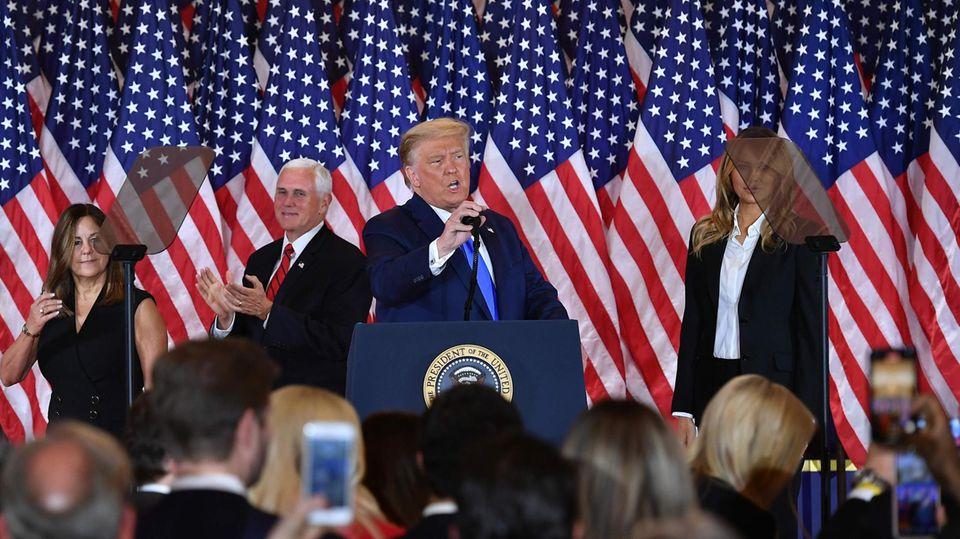 Donald Trump Auftritt nach Wahl
