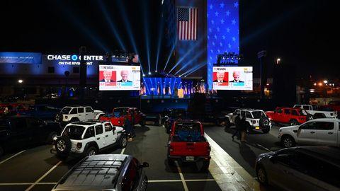 Wilmington, Delaware: Unterstützer von Joe Biden verfolgen die Wahl