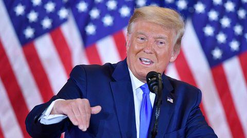 Donald Trump erklärte sich noch vor der Auszählung der Stimmen zum Wahlsieger