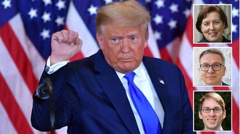 Donald Trump und drei USA-Experten