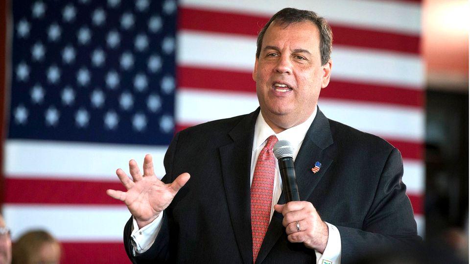 Der frühere republikanische Gouverneur von New Jersey, Chris Christie