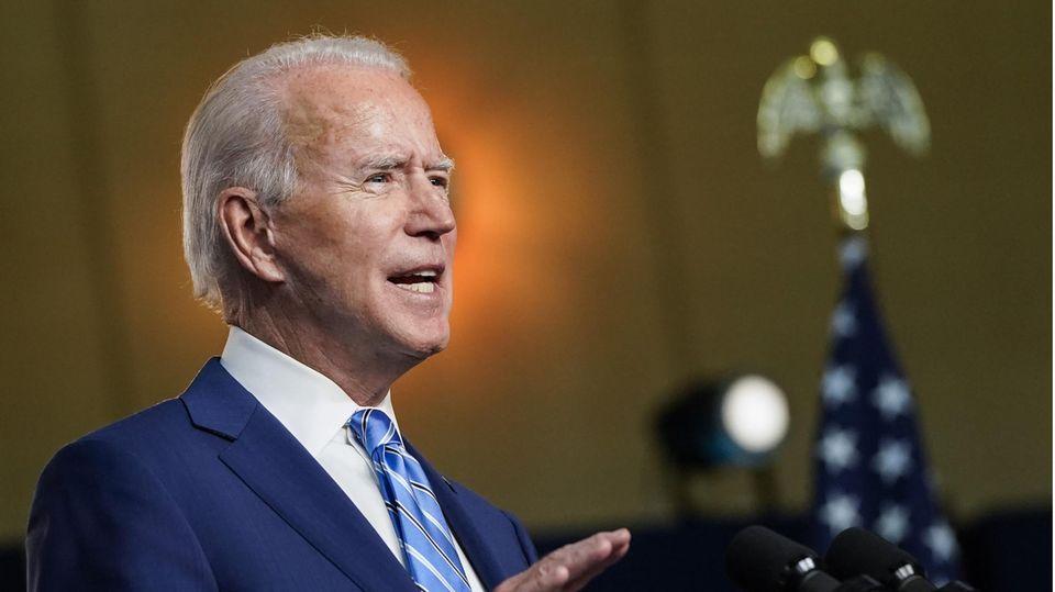 Joe Biden spricht nach der US-wahl