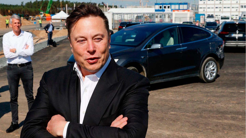Elon Musk im September in Grünheide