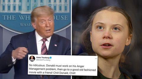 """Gretas fiese Twitter-Revanche gegen Trump: """"So lächerlich ... Entspann dich, Donald!"""""""