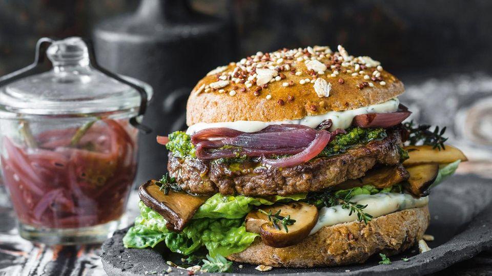 Ungewohnt, schmeckt aber toll: ein Reh-Burger