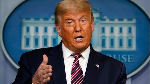 Donald Trump bei seinem Statement im Weißen Haus