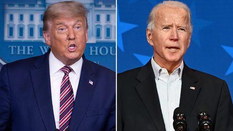 US-Präsident Donald Trump (l.) und sein Herausforderer Joe Biden