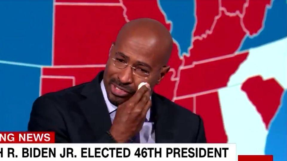 CNN-Moderator bricht vor der Kamera in Tränen aus