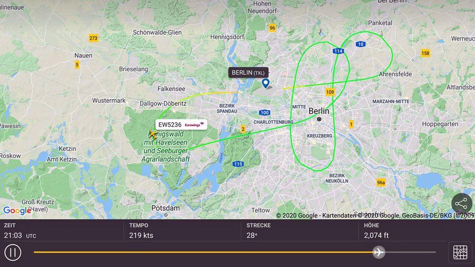Goodbye TXL: AirEvents veranstaltete am Samstag mehrere Abschiedsrundflüge ab Berlin-Tegel mit einem von Eurowings gecharterten Airbus A319.