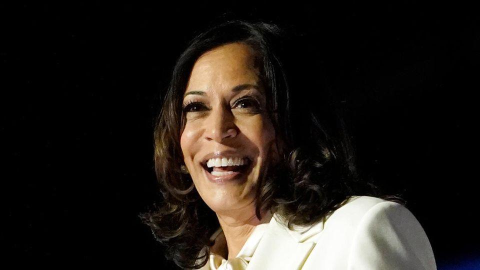 US-Wahl 2020: Kamala Harris bei ihrer Rede nach Joe Bidens Wahlsieg