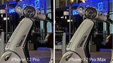 Erst wenn man tief (600 Prozent) hineinzoomt, erkennt man, dass das 12 Pro Max etwas mehr Details zeigt - erkennbar etwa am Scheinwerfer. Doch wie gesagt: Die Unterschiede sind in solchen Situationen minimal.
