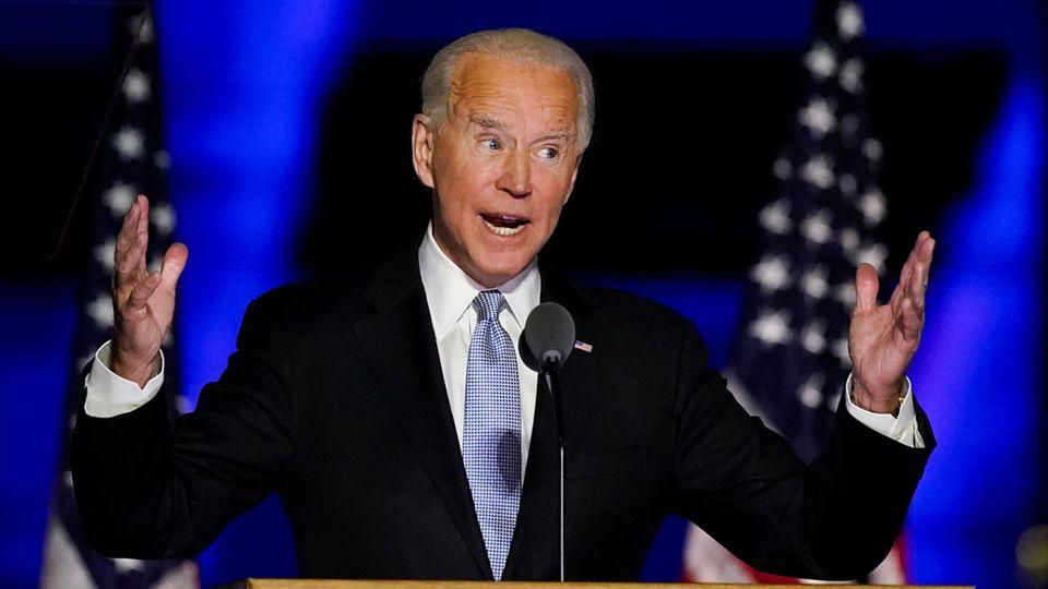 Der designierte US-Präsident Joe Biden hält eine Ansprache inWilmington, Delaware