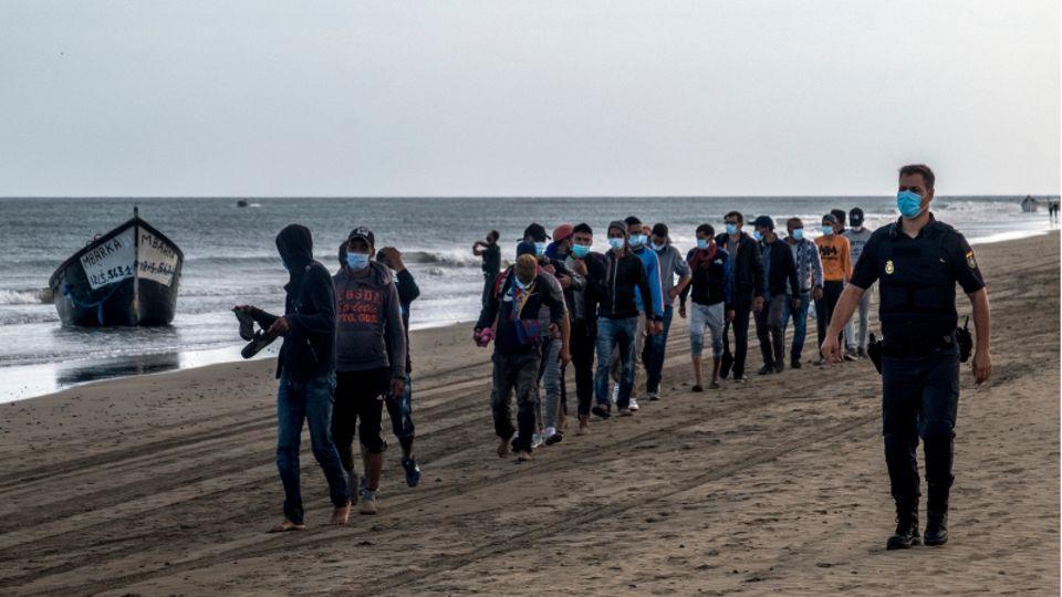 Gran Canaria Ende Oktober: Seit Jahresbeginn steigt die Anzahl der Migranten, die die Kanaren erreichen.
