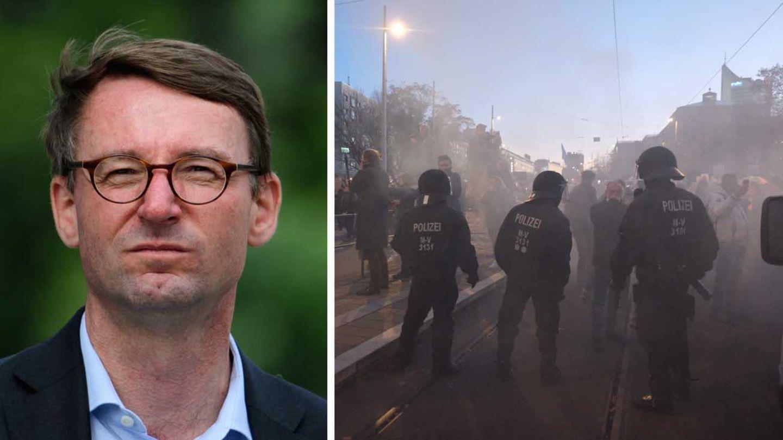 Sachsen Innenminister Roland Wöller; Polizeieinsatz in Leipzig